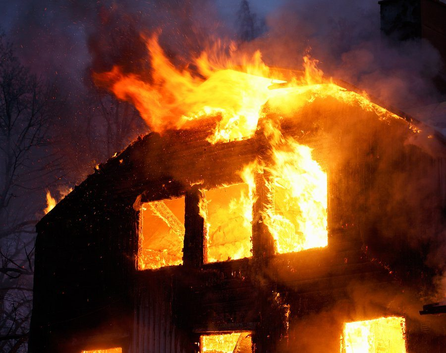 bigstock Wooden House In Flames 3324176 1 - Home Fire Statistics and Prevention